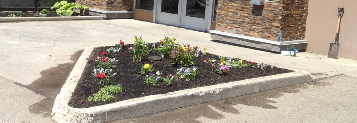 Landscaping for Boston Pizza Slider